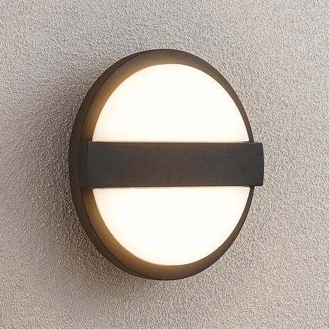 Lucande Gylfi aplique LED de exterior, redondo