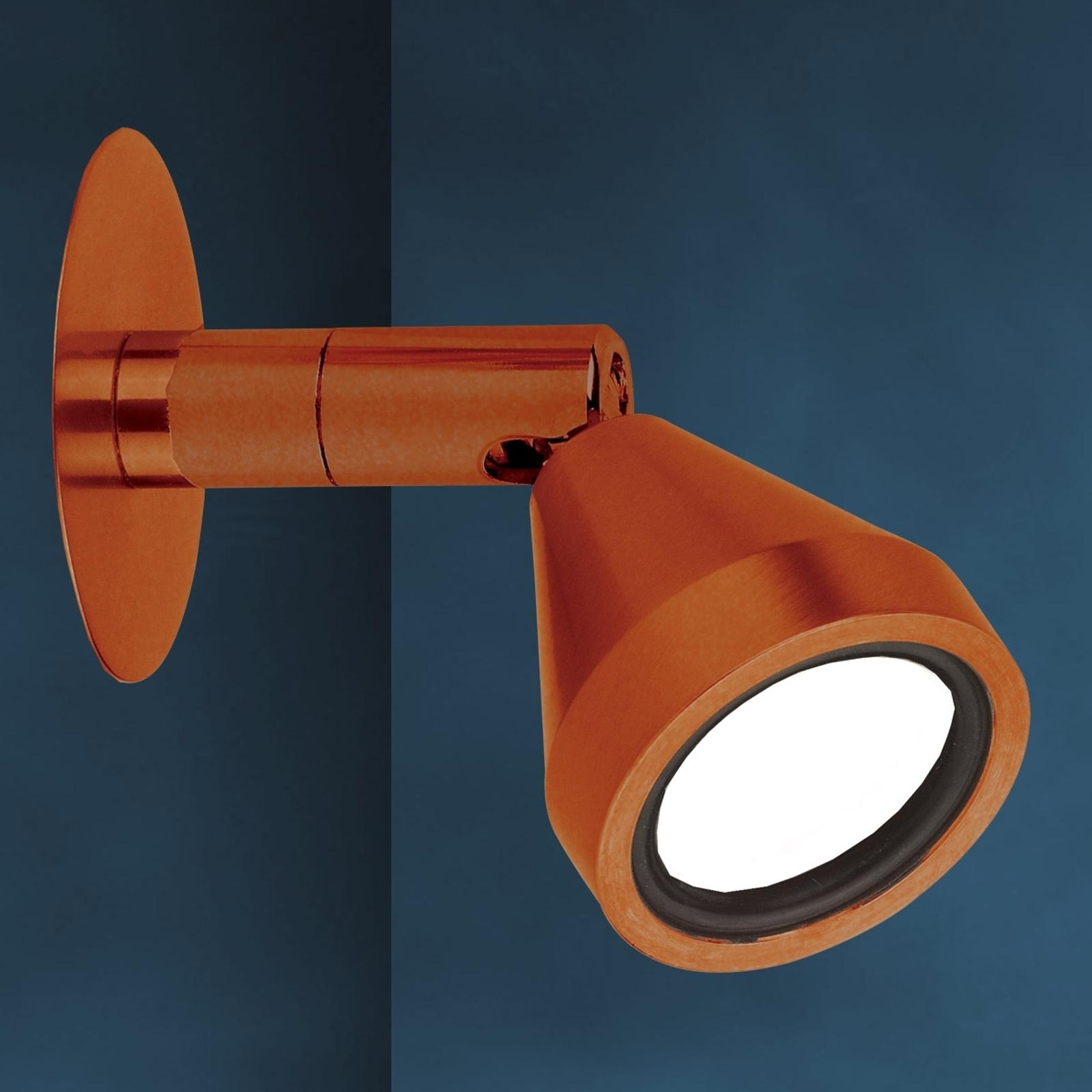 Foco de pared LED de color bronce MINI, antiguo