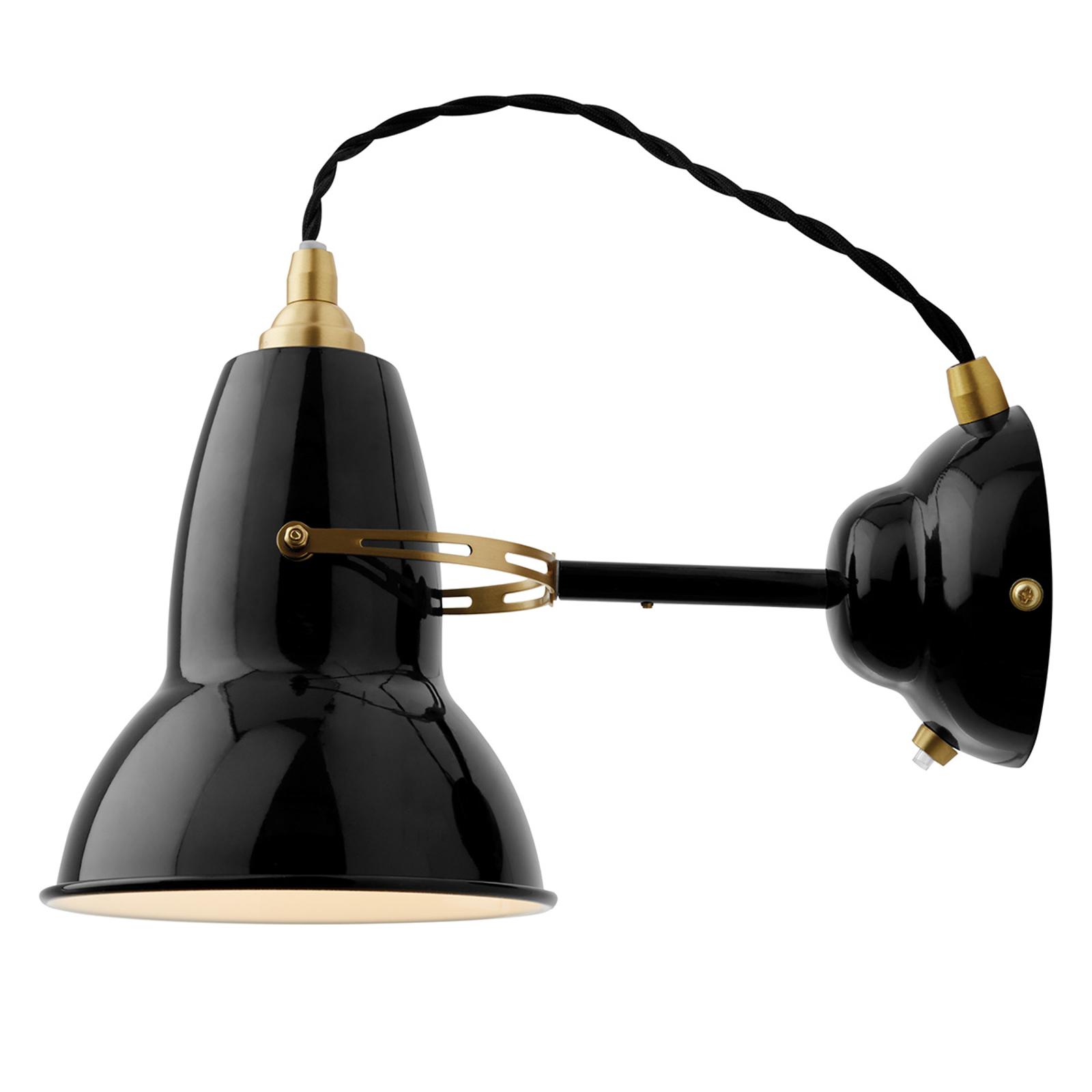 Anglepoise Original 1227 Brass applique noire