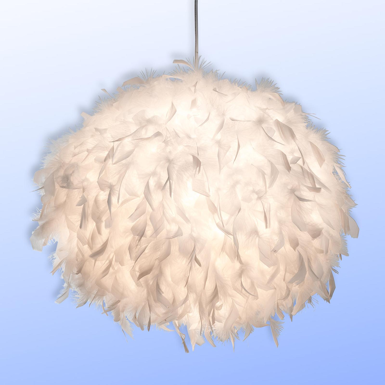 Pierzasta lampa wisząca DUCKY, 30 cm