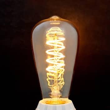 Ampoule LED rustique E27 Curved Line 4W, 2200K