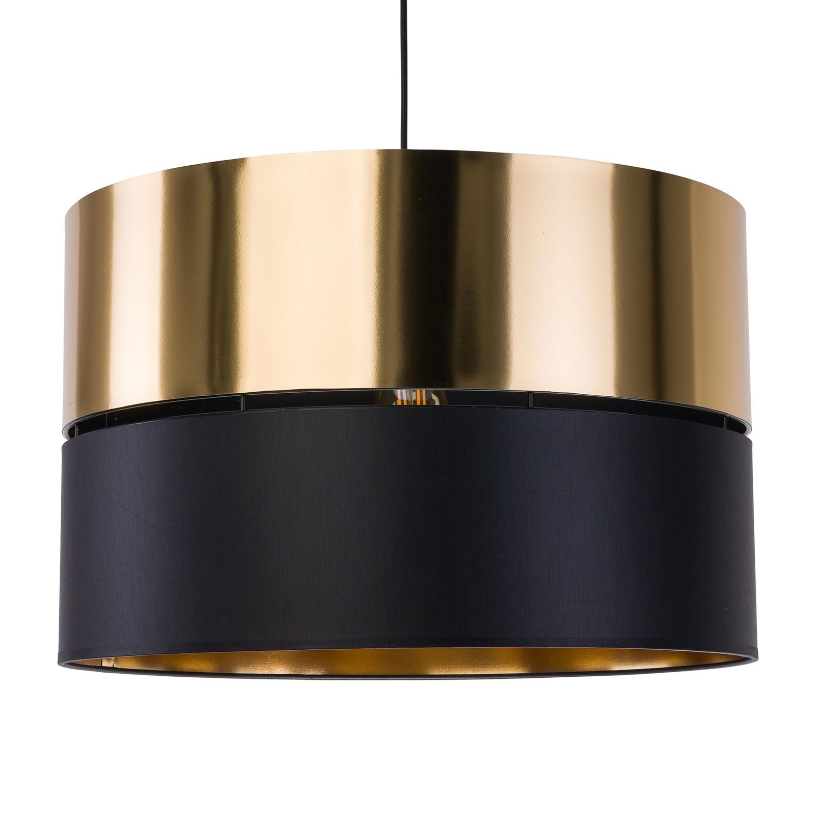 Lampa wisząca Hilton czarna/złota, 1-punktowa