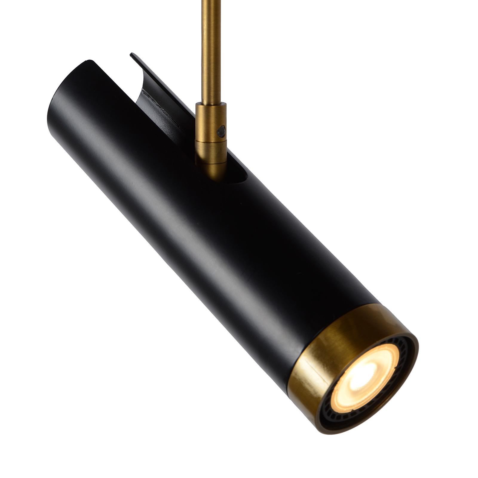 Selin hængelampe, drejelig og vipbar, sort