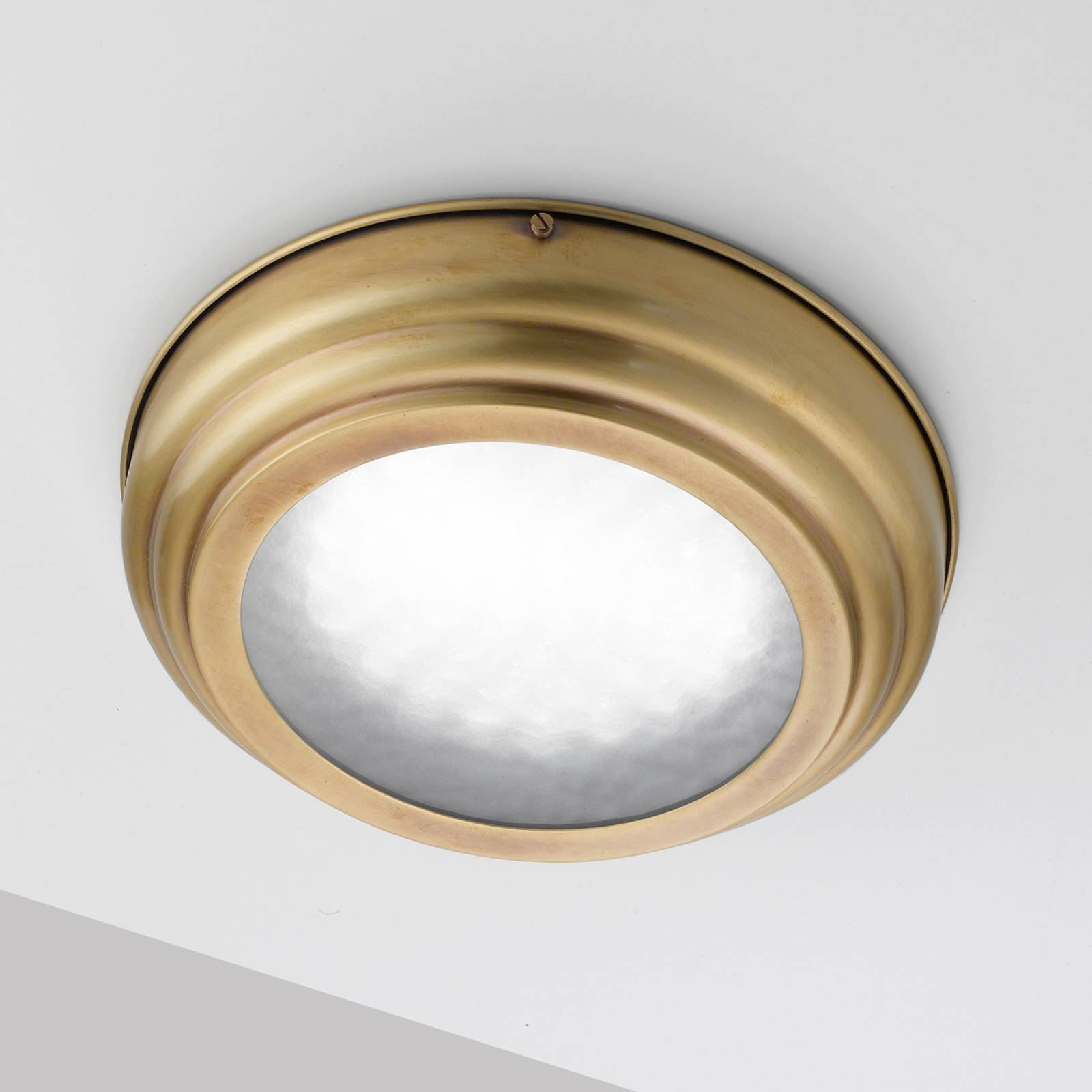 Led-plafondlamp Scirocco gesatineerd messing