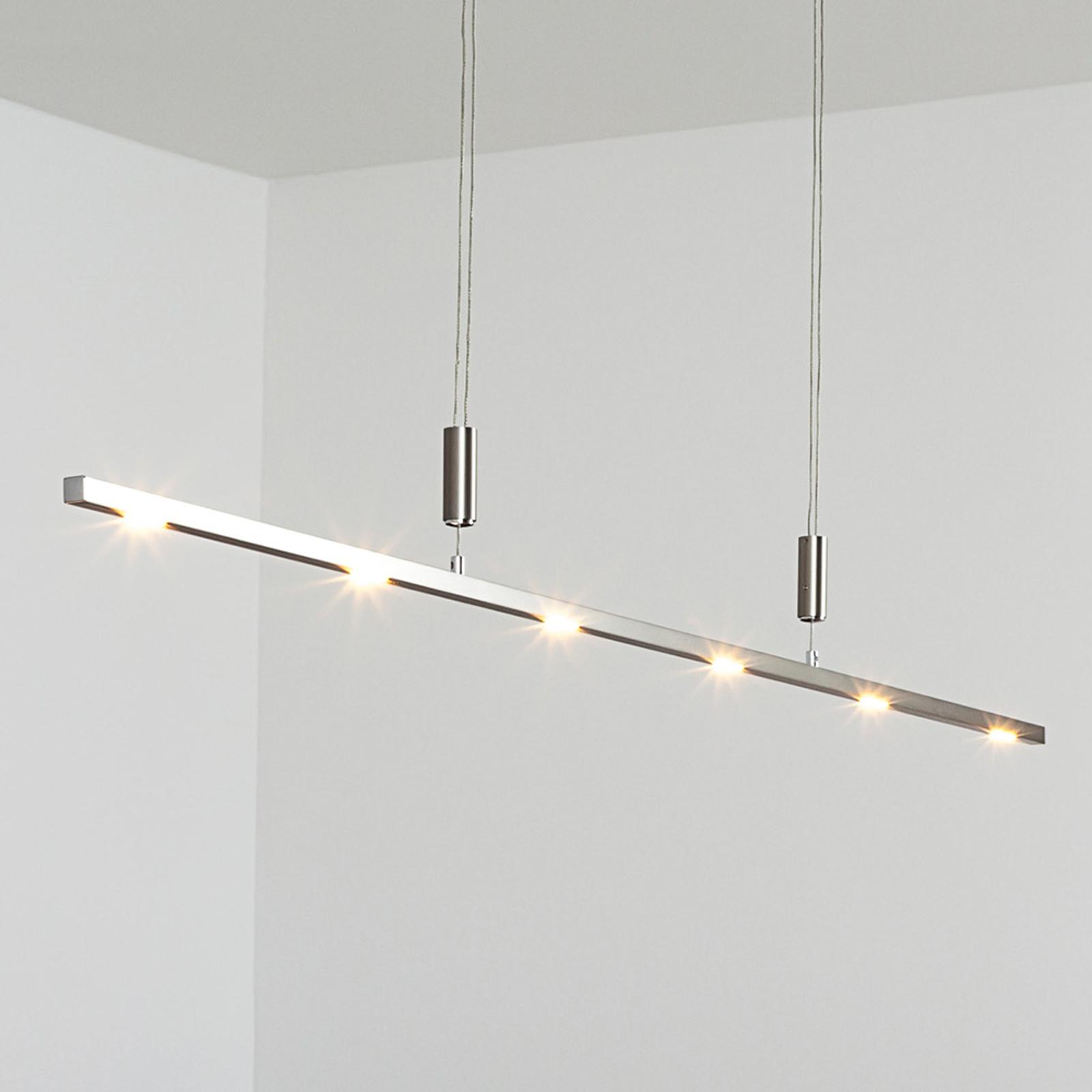Lámpara LED colgante Tolu, altura regulab., 140 cm