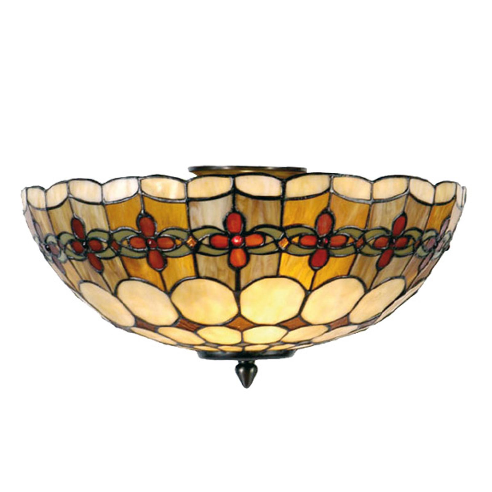 Nury - taklampe i tiffanystil