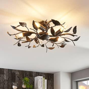 Dekorativ taklampe Yos, med blader