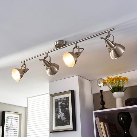 Lampe de cuisine vintage Julin à quatre lampes