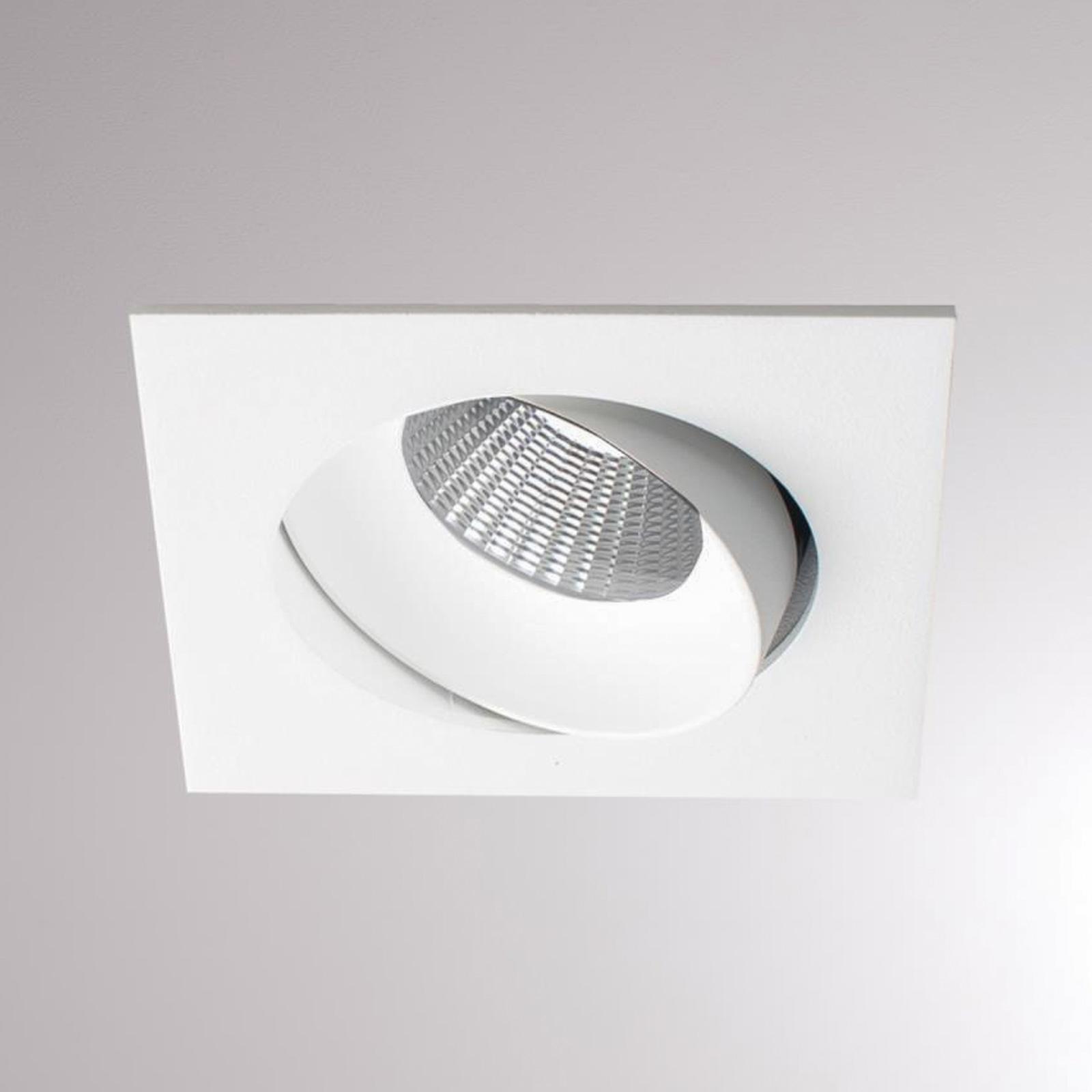 Kalio LED-Einbaulampe eckig 2700K 24° weiß