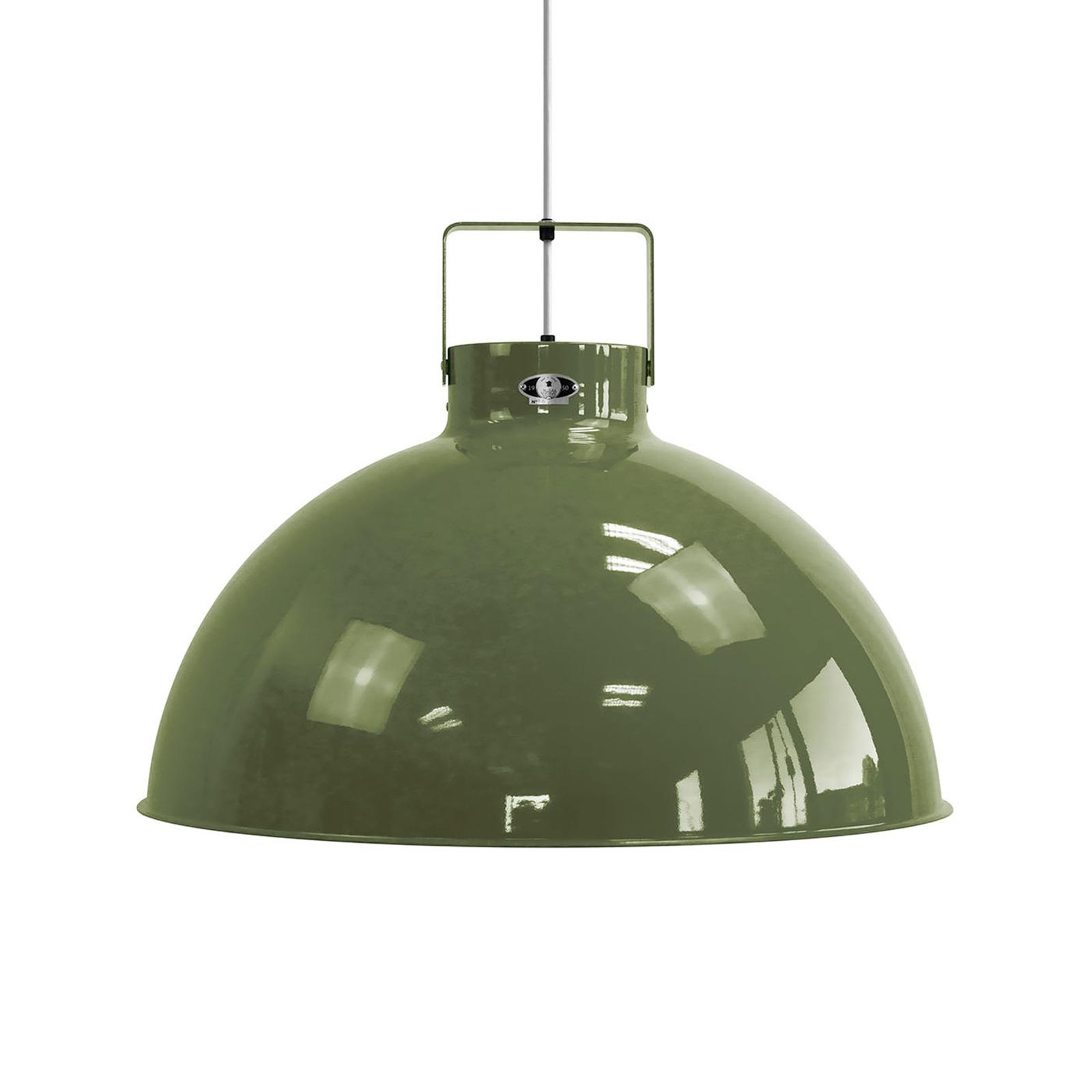 Jieldé Dante D675 lampa wisząca, oliwkowa, Ø67,5cm