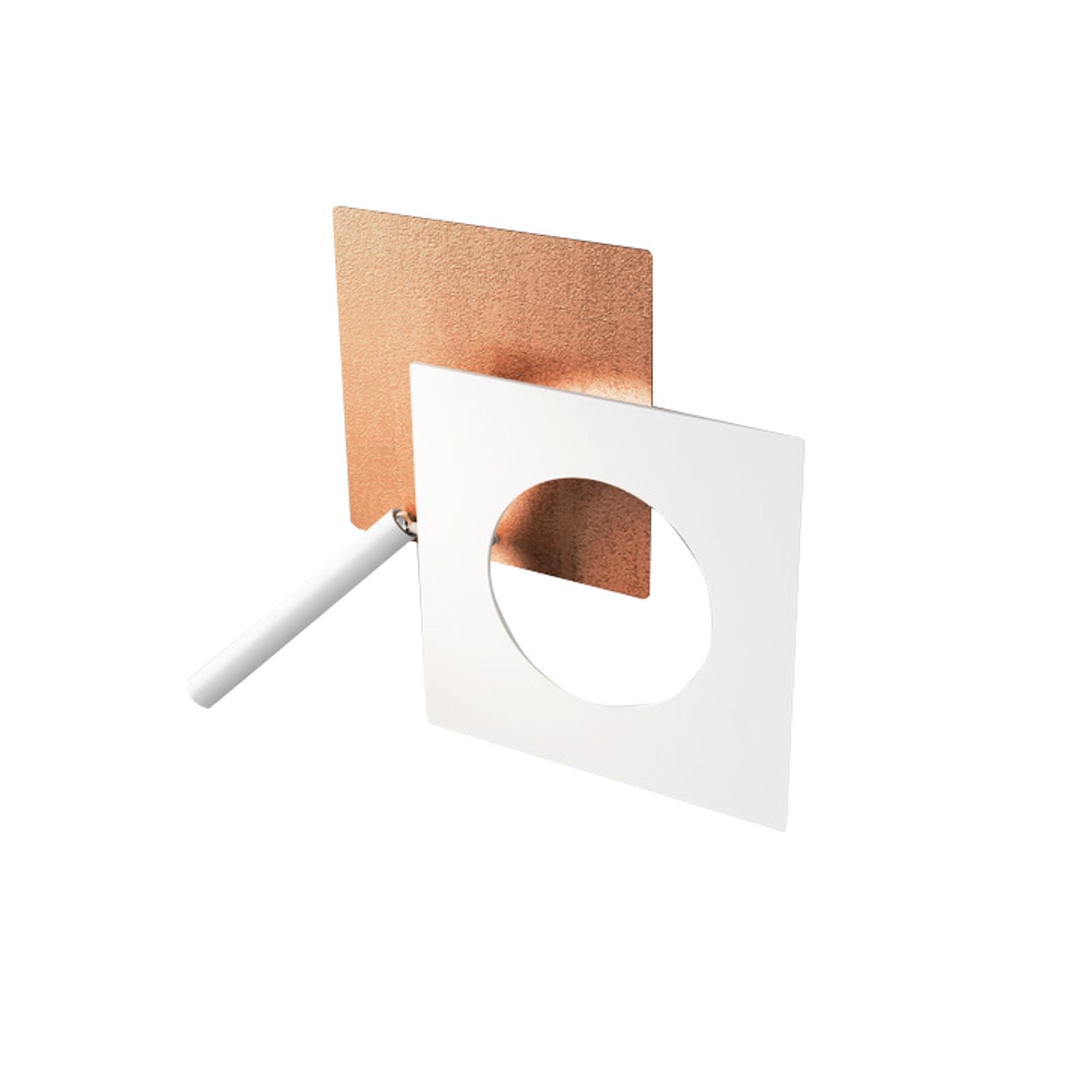 ICONE LED-Wandleuchte Petra 21.L, kupfer, weiß