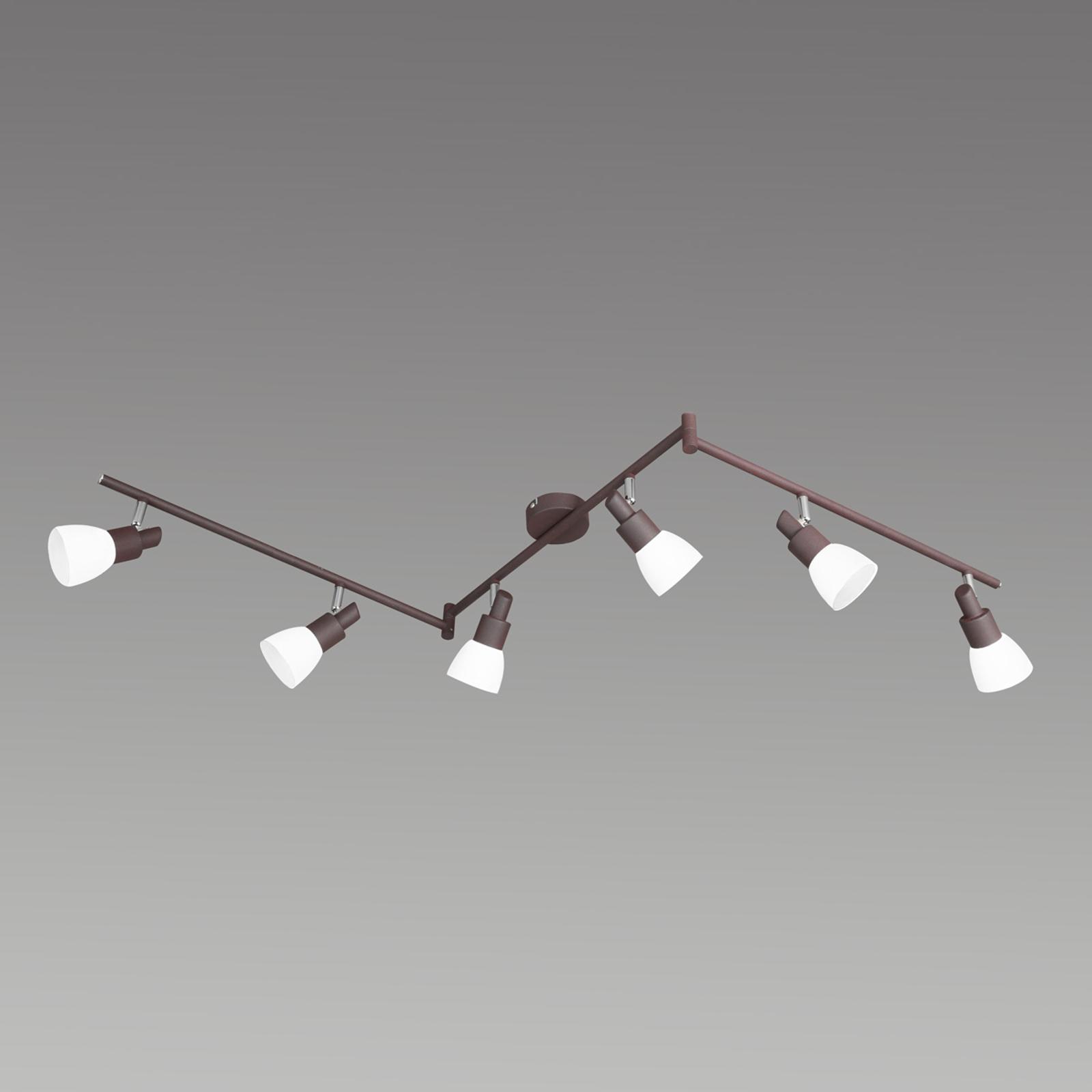 6-flammige LED-Deckenleuchte Eve in antikbraun kaufen