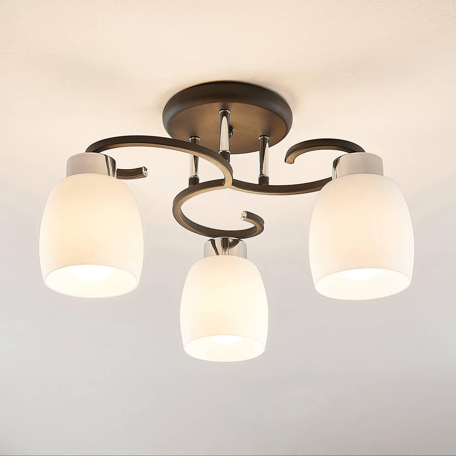 Lindby Daliah lampa sufitowa trzy szklane klosze