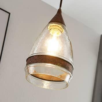 Szklana lampa wisząca Millina, 1-punktowa