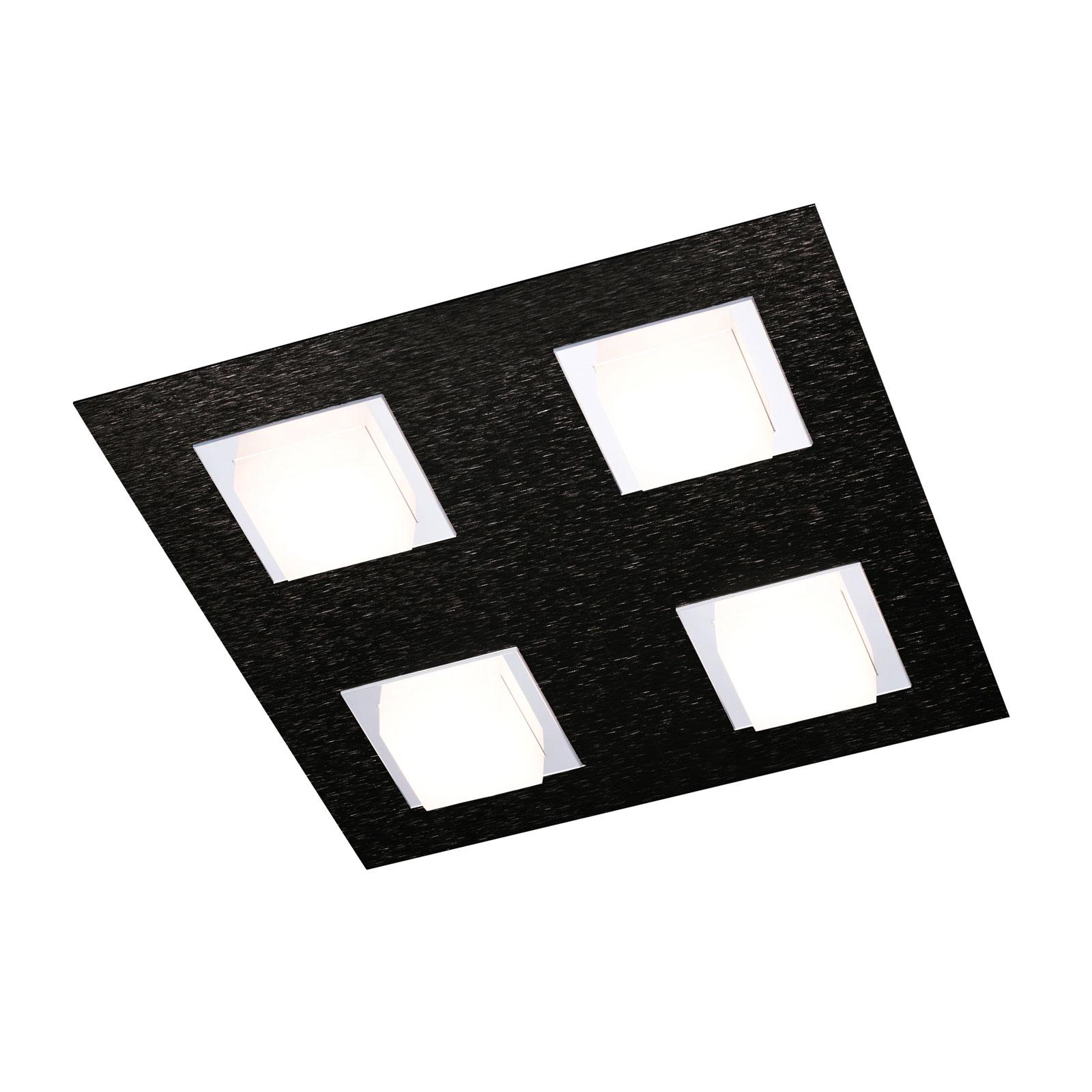 GROSSMANN Basic taklampe, 4 lyskilder, svart