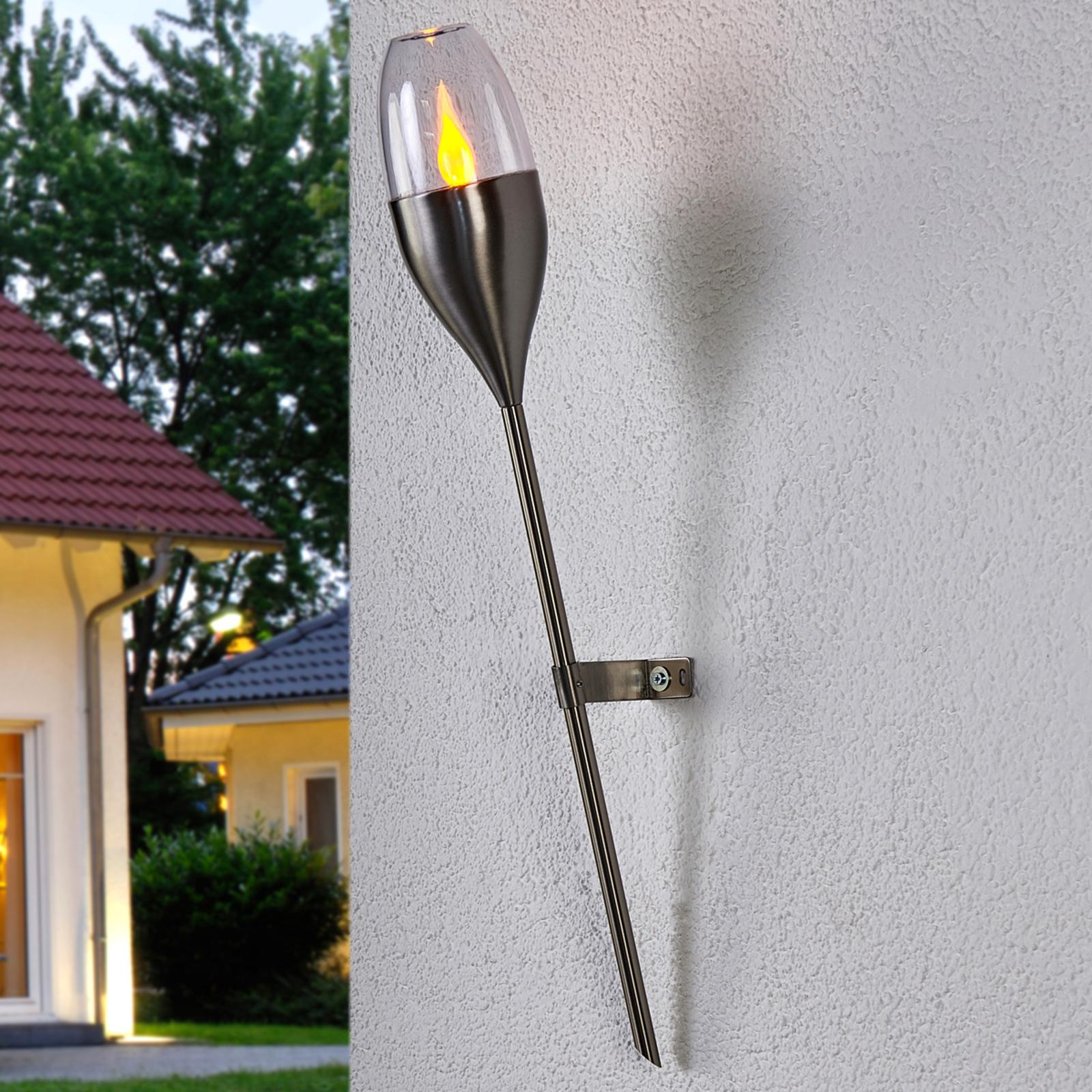 Solarwandleuchte Jari mit flackernder LED