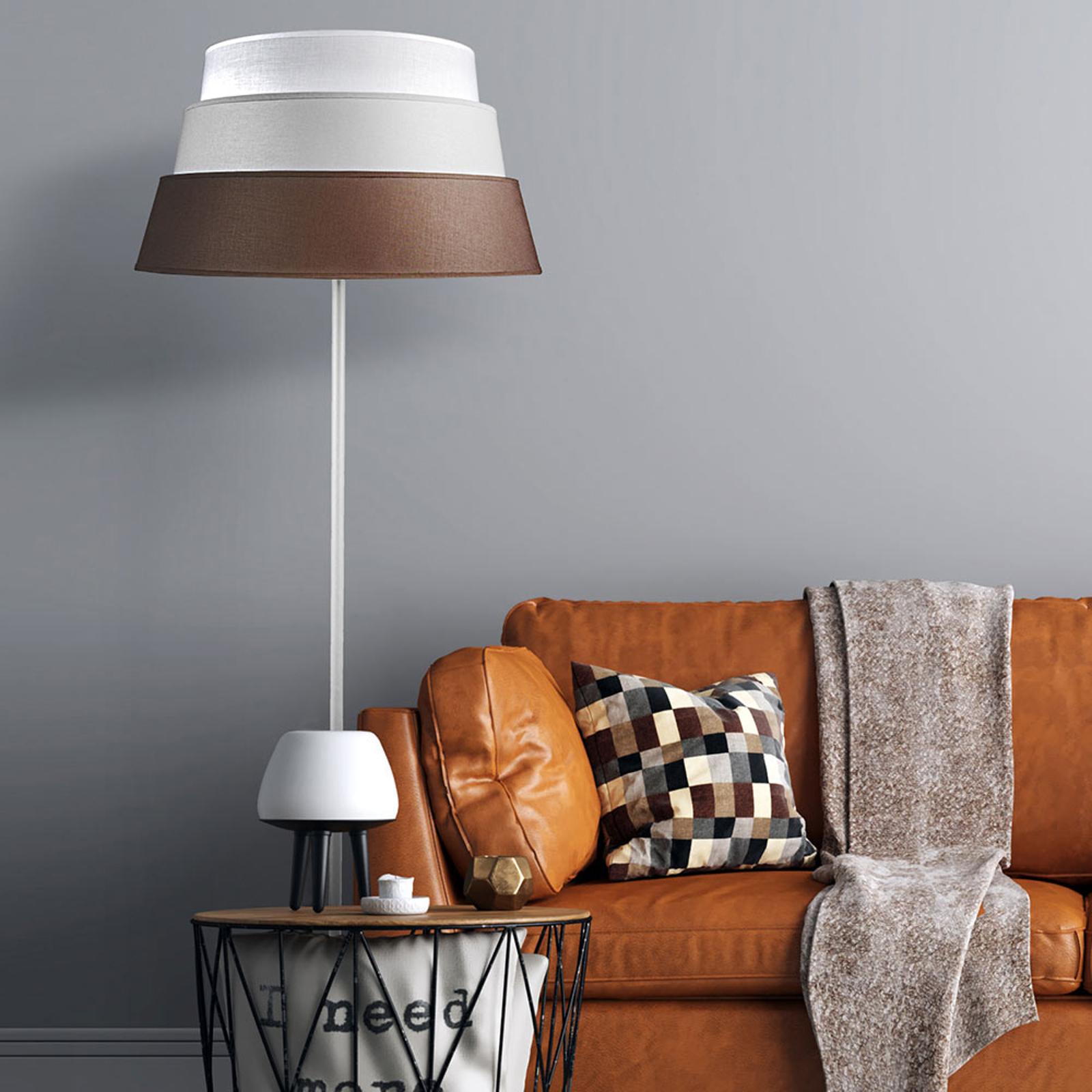 Vloerlamp Piramida, bruin/grijs/wit