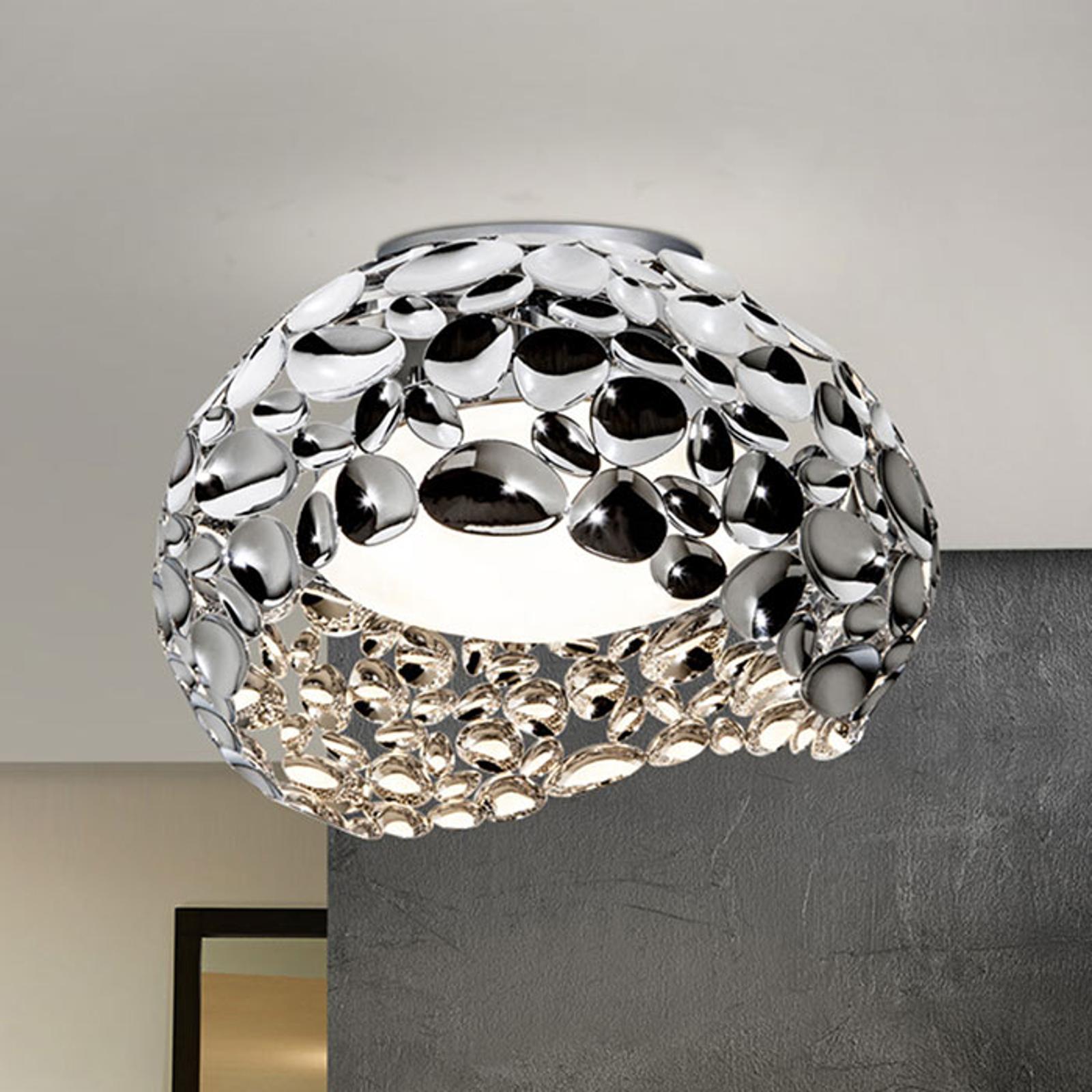LED-taklampe Narisa, Ø 46 cm krom