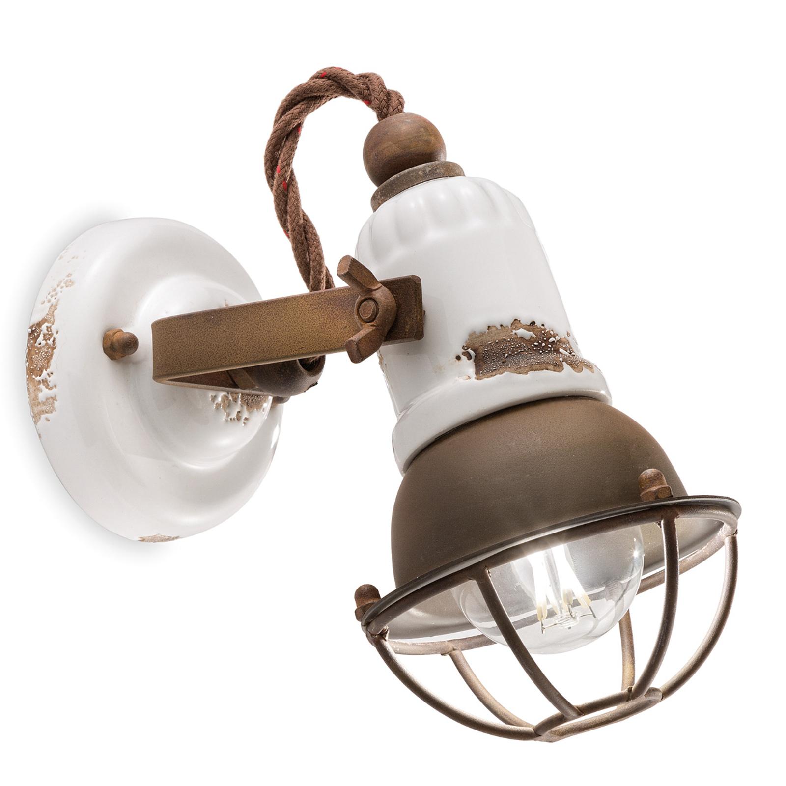 Applique C1675/1 avec corbeille, 1lampe, blanc
