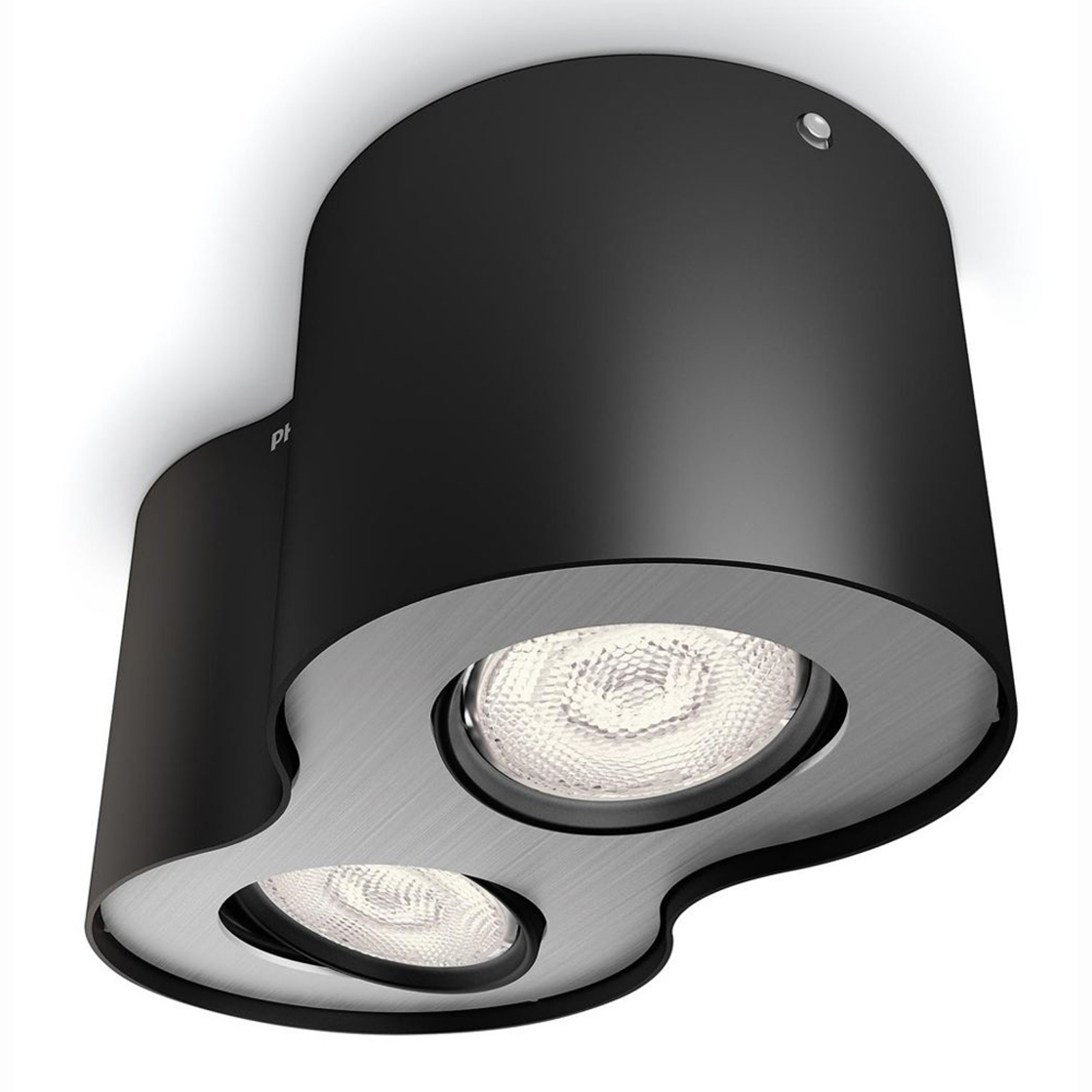 Spot LED Phase noir, à 2 lampes