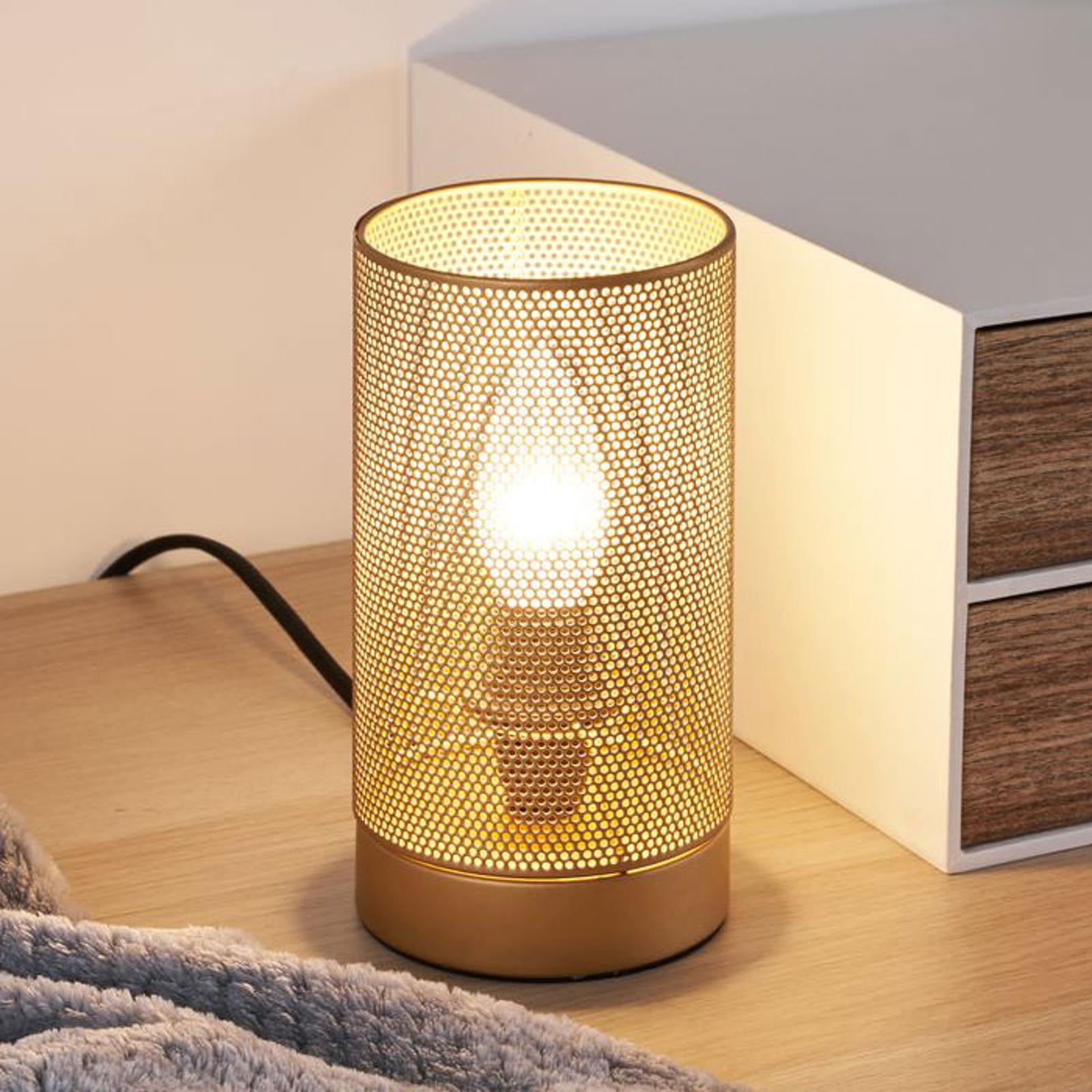 Pauleen Mesh lampa stołowa złota