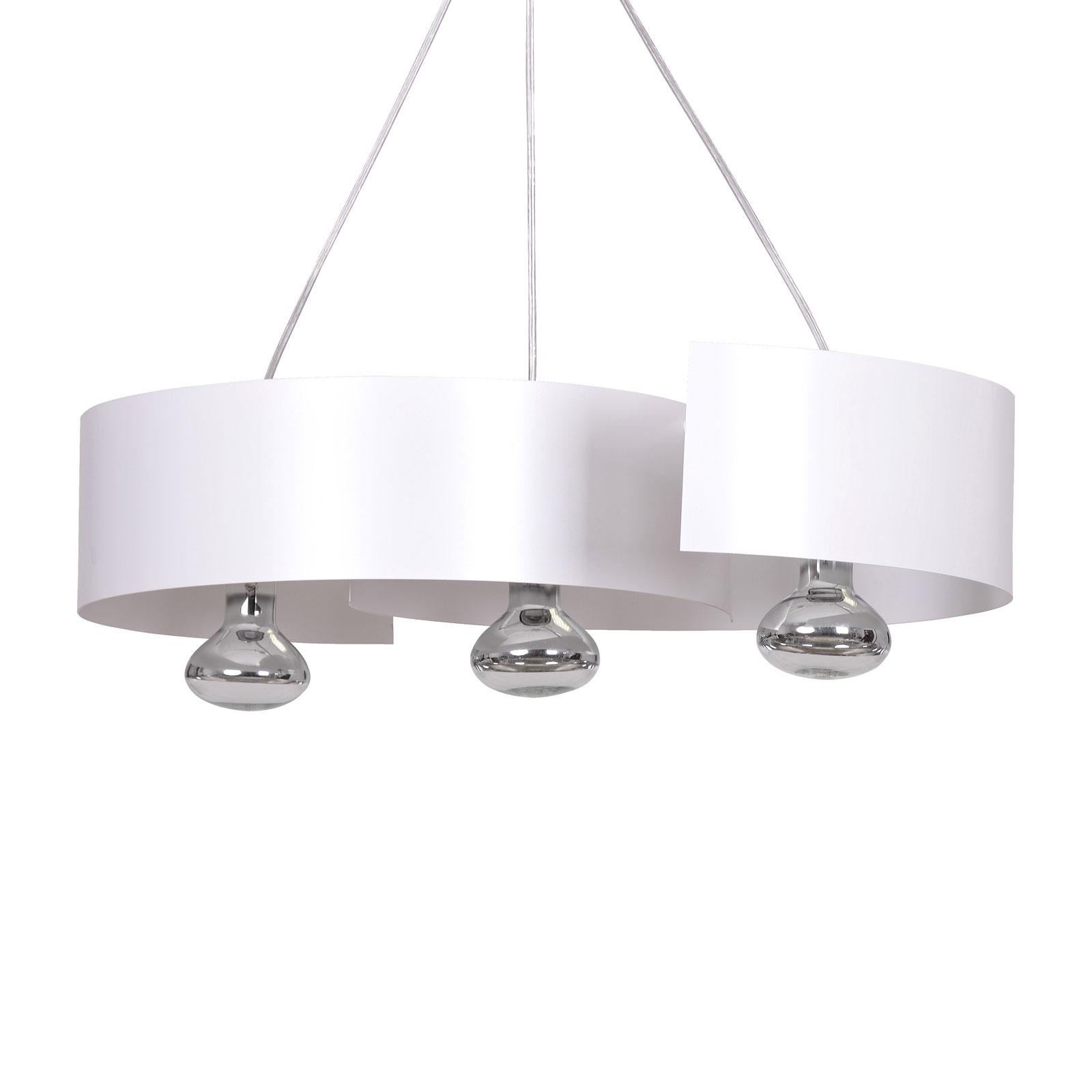 Lámpara colgante Vixon 3, 3 luces, blanca