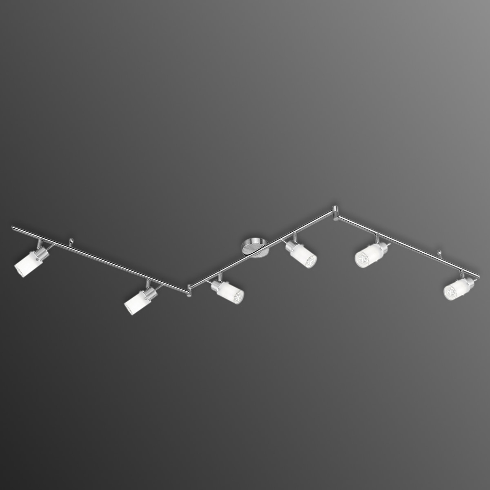 Plafonnier LED Max à trois bras et 6 lampes