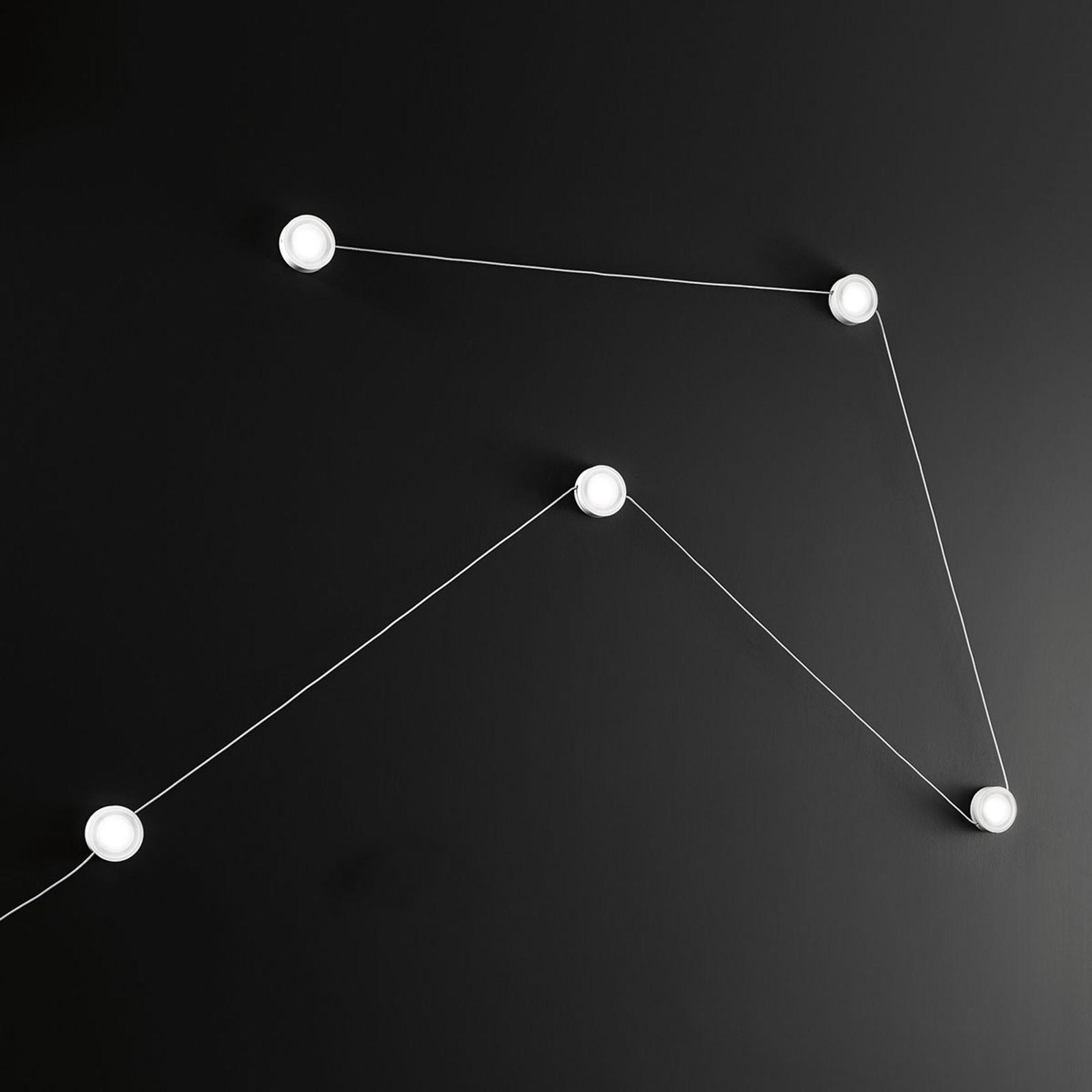 LED-Wandleuchte Giro mit Schalter, fünfflammig