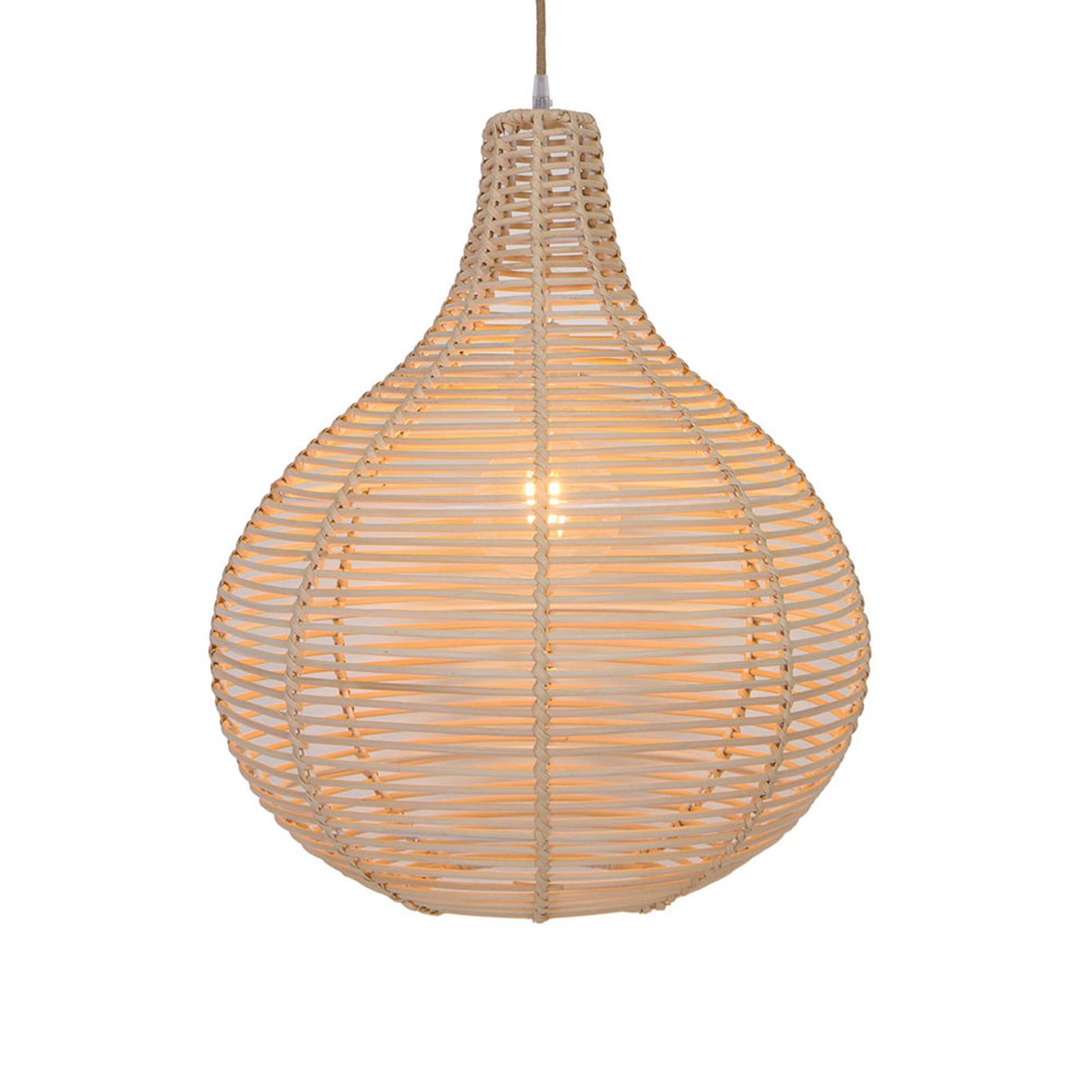 Lampa wisząca Bolita z drewna, Ø 42 cm