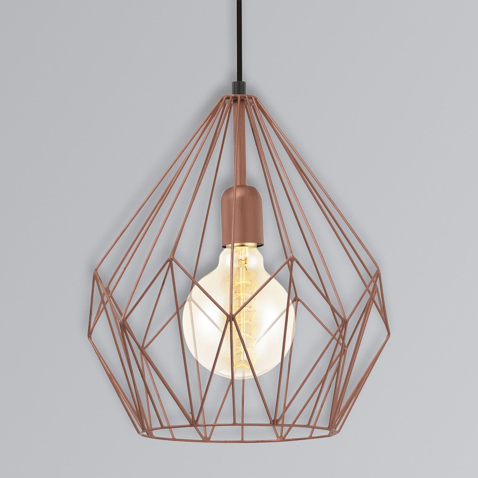 Závesná lampa Carlton štýl vintage medená_3031786_1