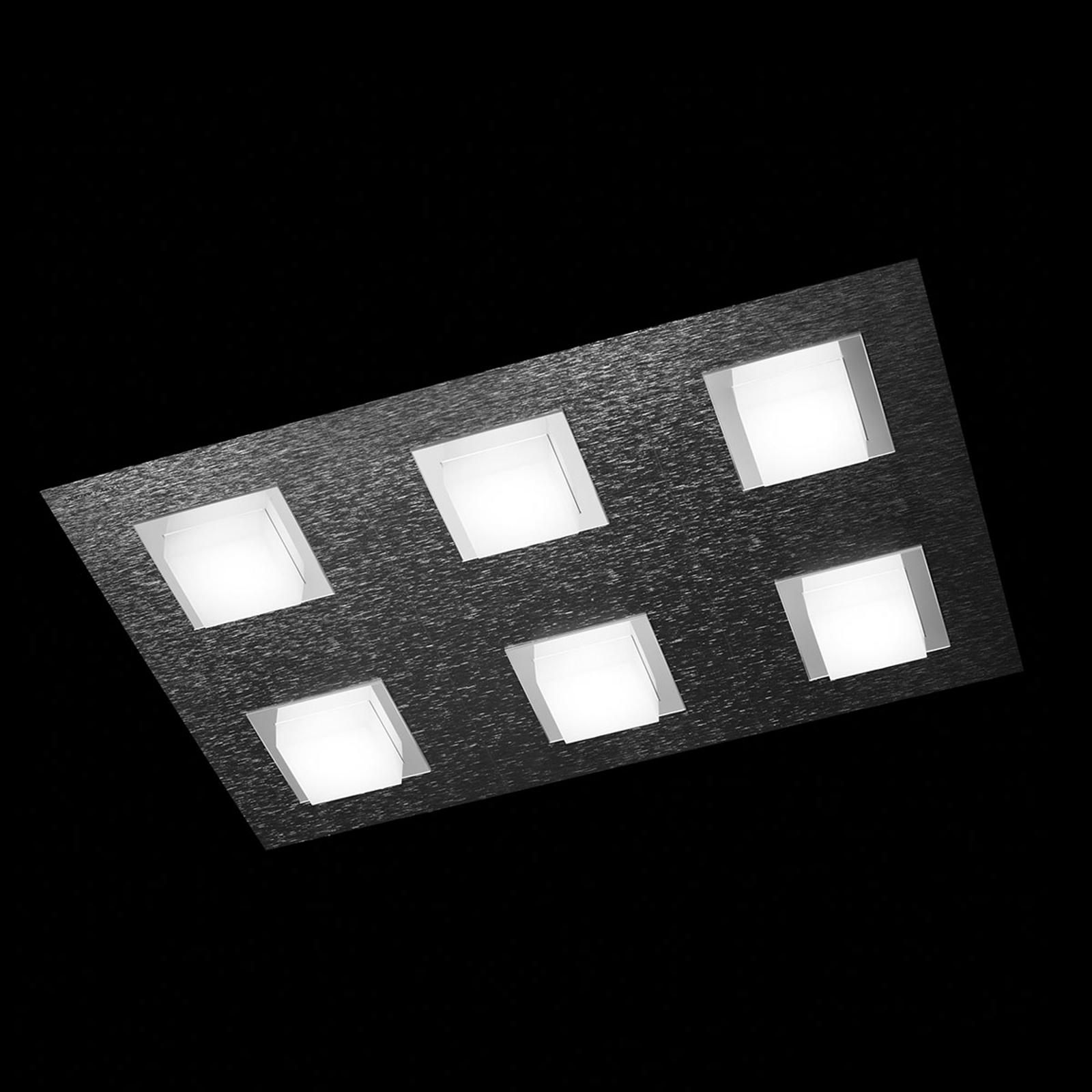GROSSMANN Basic LED-Deckenleuchte 6flg., anthrazit