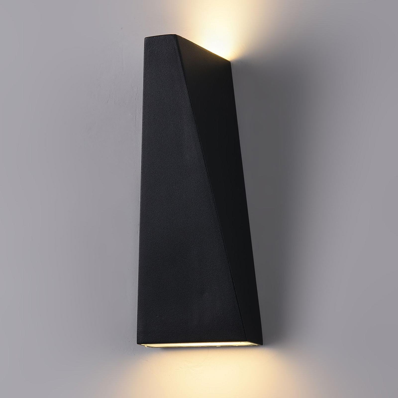 Applique LED da esterni Times Square nero