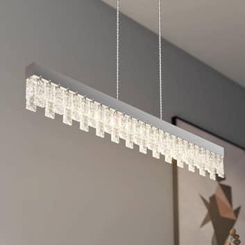 Lucande Bayano LED-hänglampa med kristaller