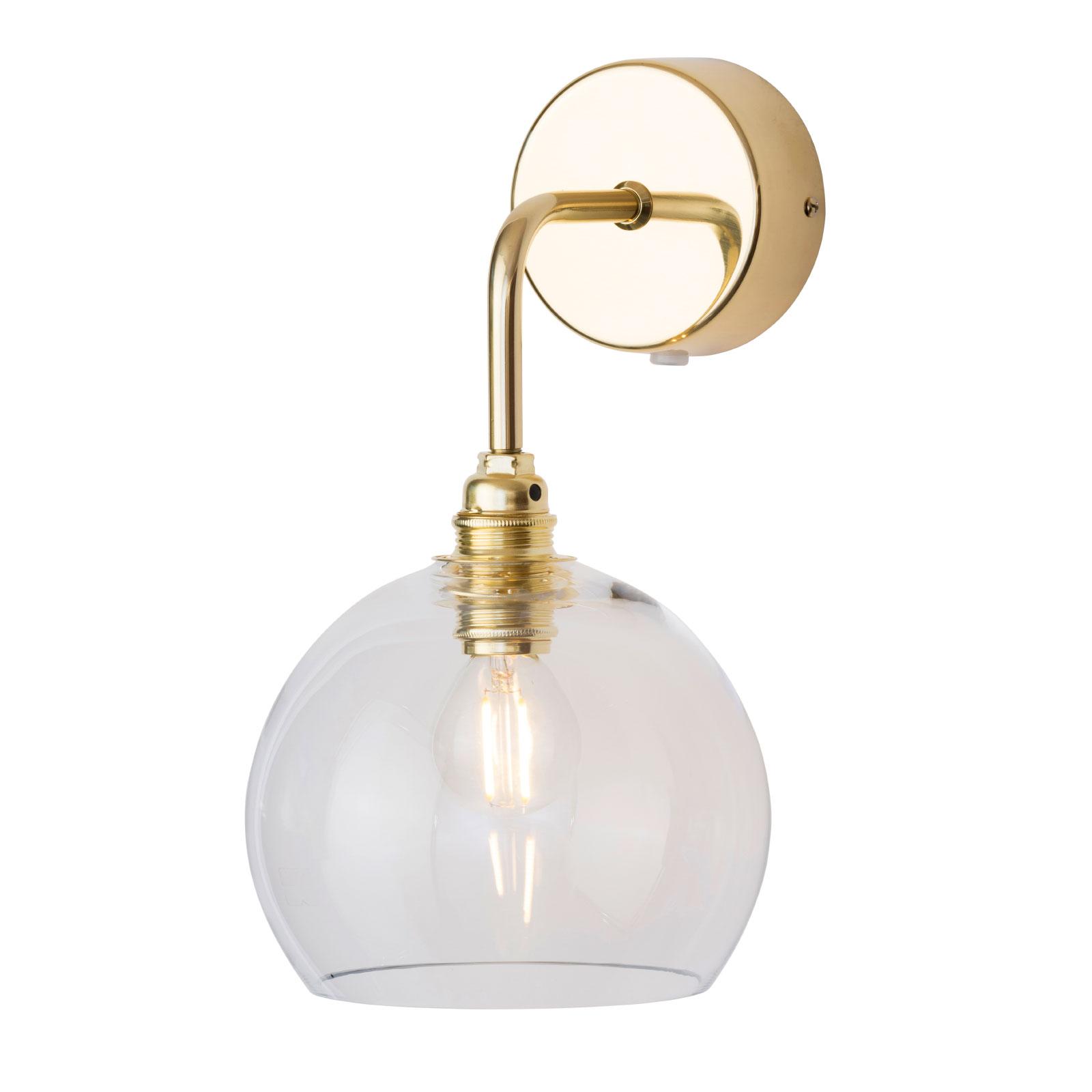 EBB & FLOW Rowan wandlamp goud kap helder