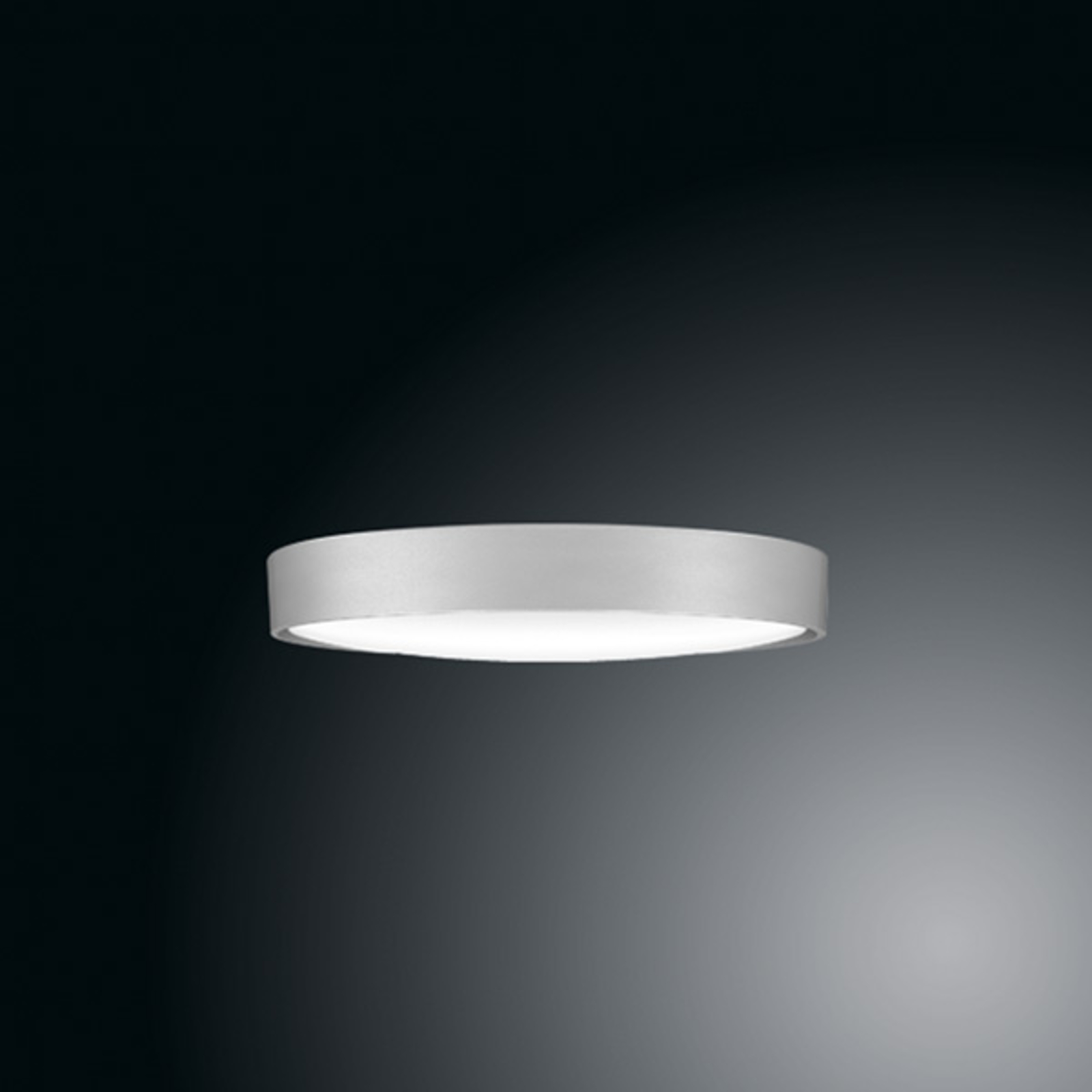 Ribag Arva LED-Deckenlampe, grau metallic, 27 cm