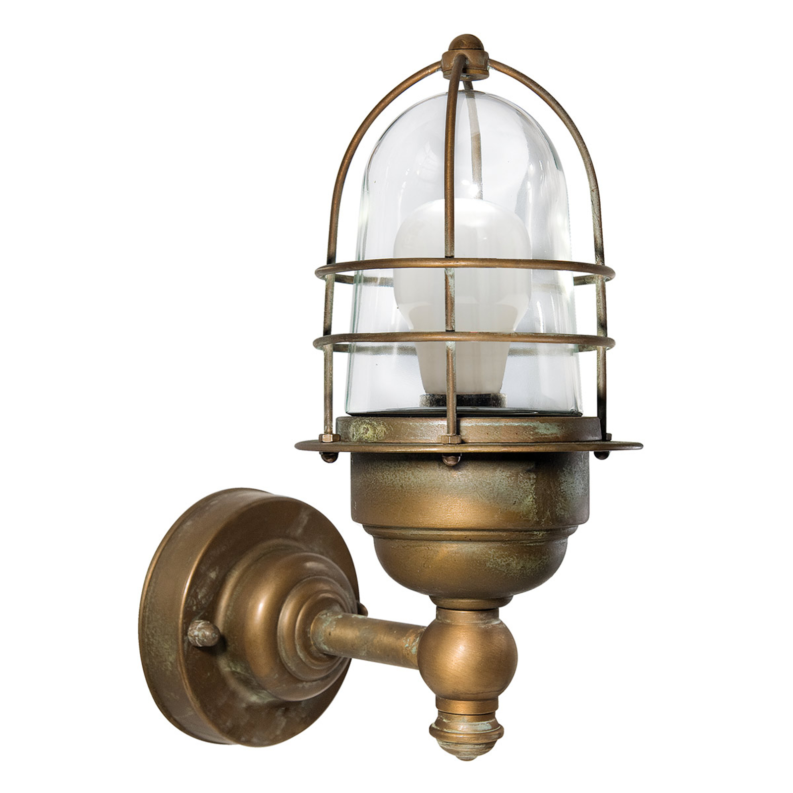 Mała zewnętrzna lampa ścienna MATTEO