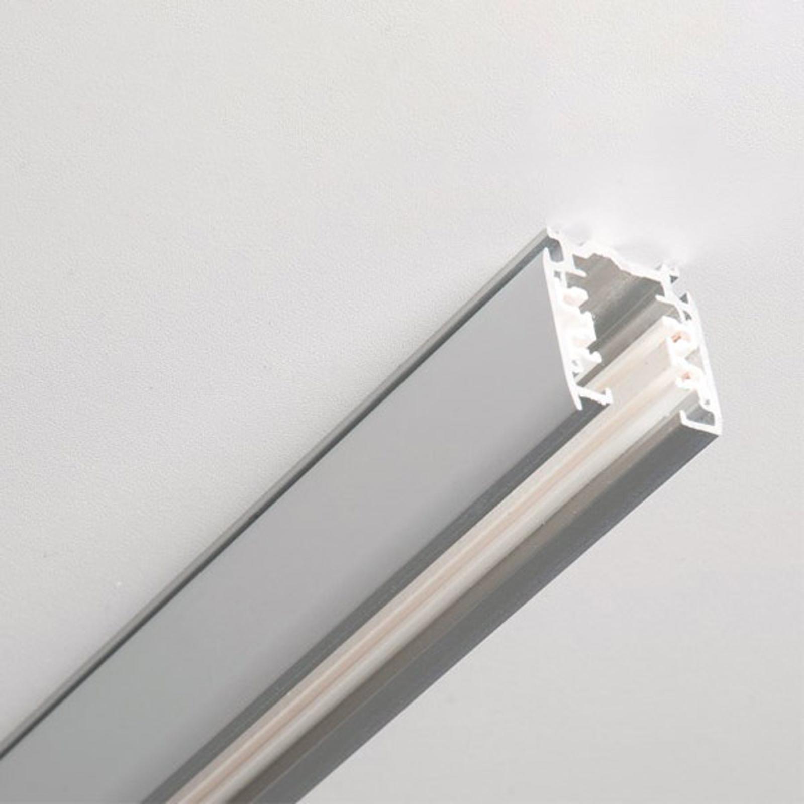 Noa aluminium 3-fase strømskinne 200cm, grå