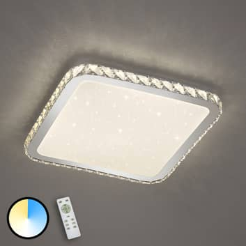 LED-Deckenleuchte Sapporo mit Starlight-Cover