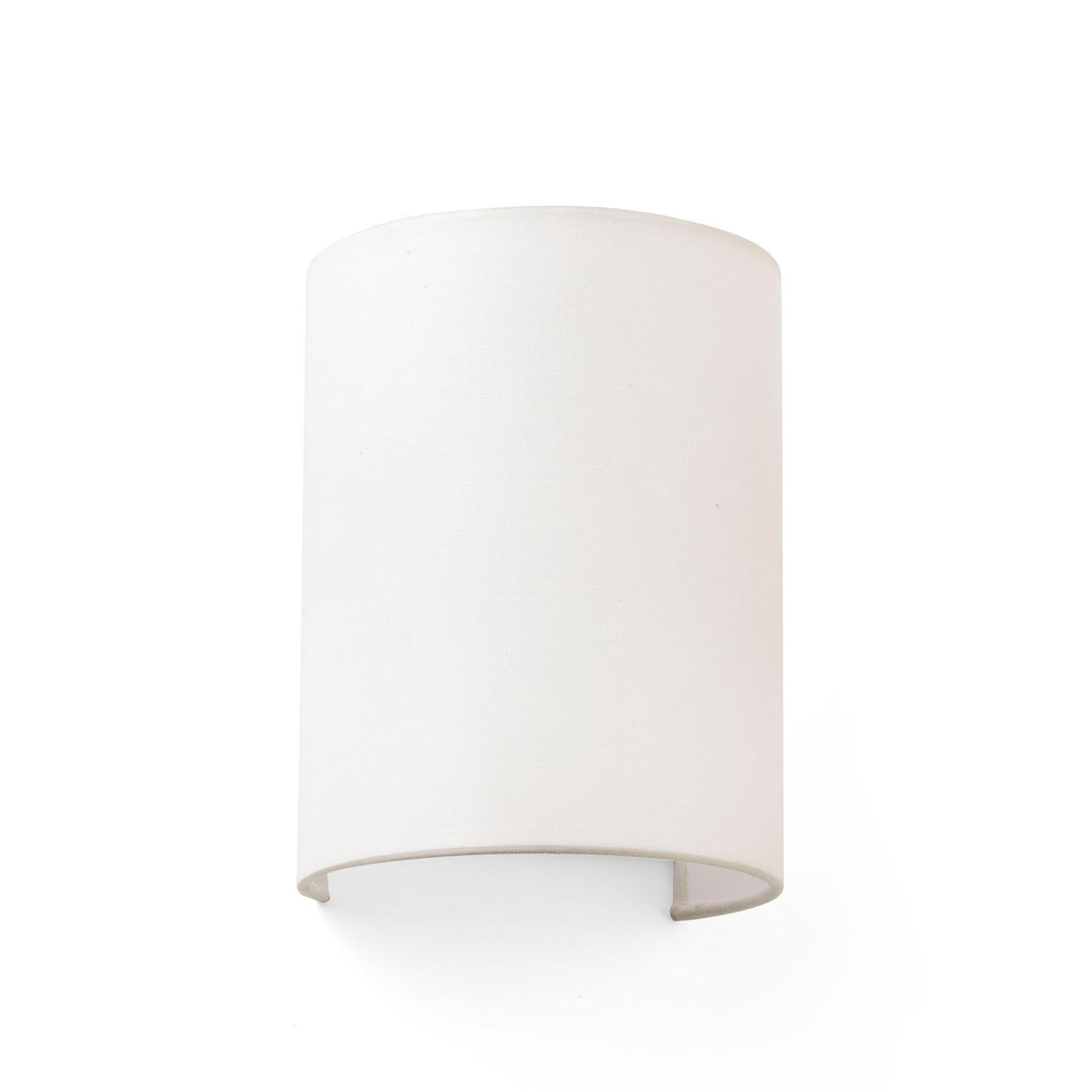 Wandlamp Cotton, gewelfd, 20 x 15 cm, beige