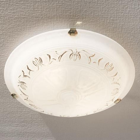 Skleněné stropní svítidlo Svetlana, kulaté, 40 cm