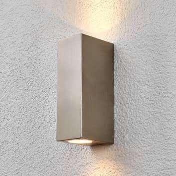 Lindby Haven Edelstahl-Außenwandlampe, 2-fl.,20 cm