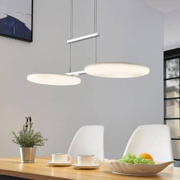 LED-hengelampe Sherko, høydejusterbar, 2 lyskilder