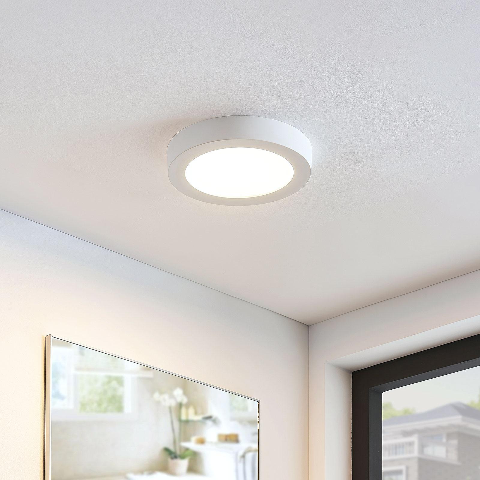 LED plafondlamp Marlo wit 3.000K rond 25,2cm