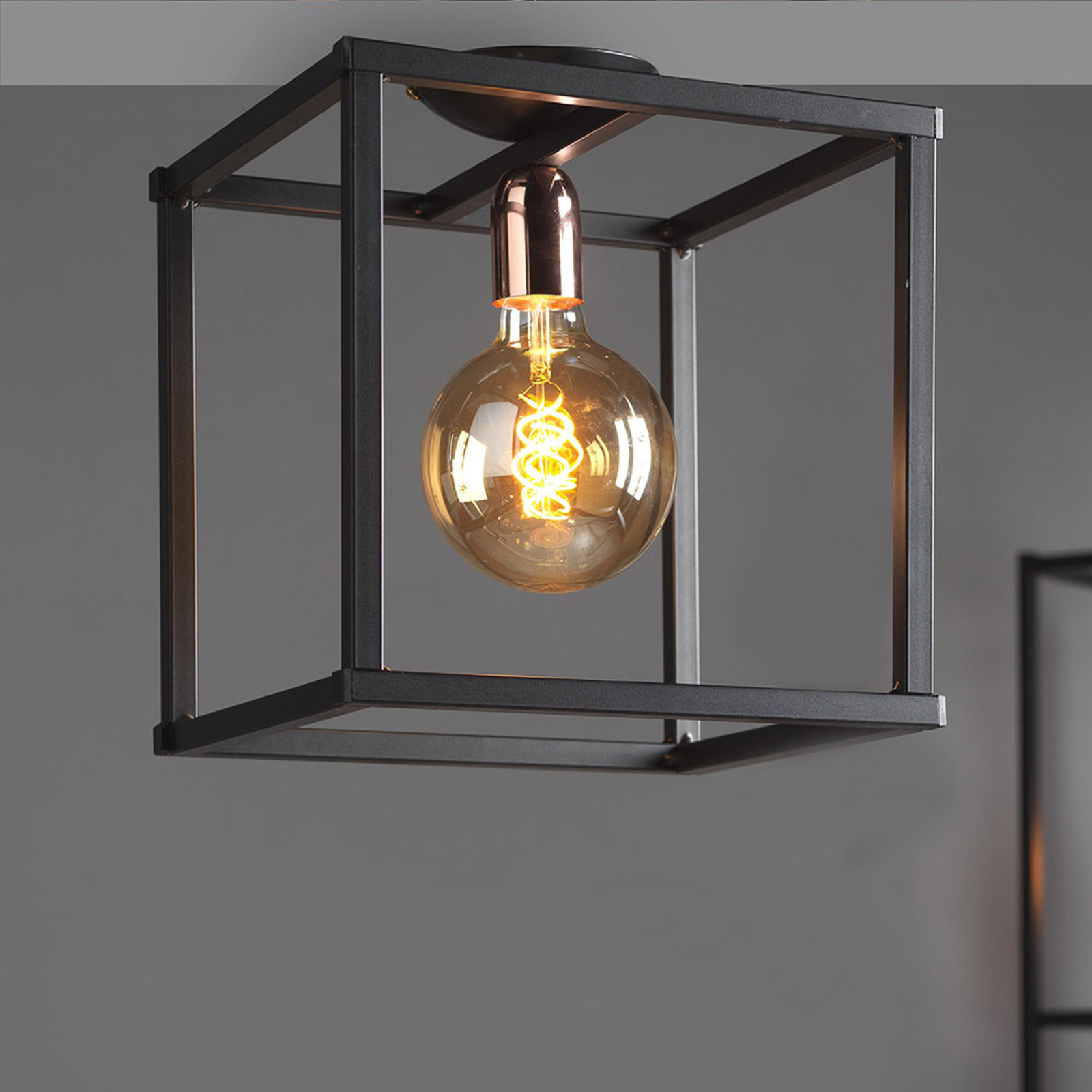 Plafondlamp Floki als open kubus