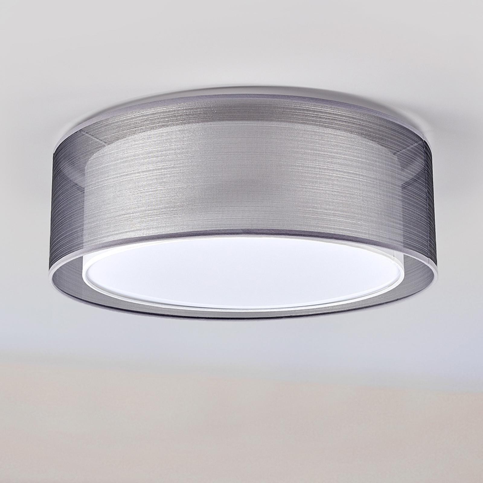 Lampa sufitowa Nica z podwójnym abażurem, szara
