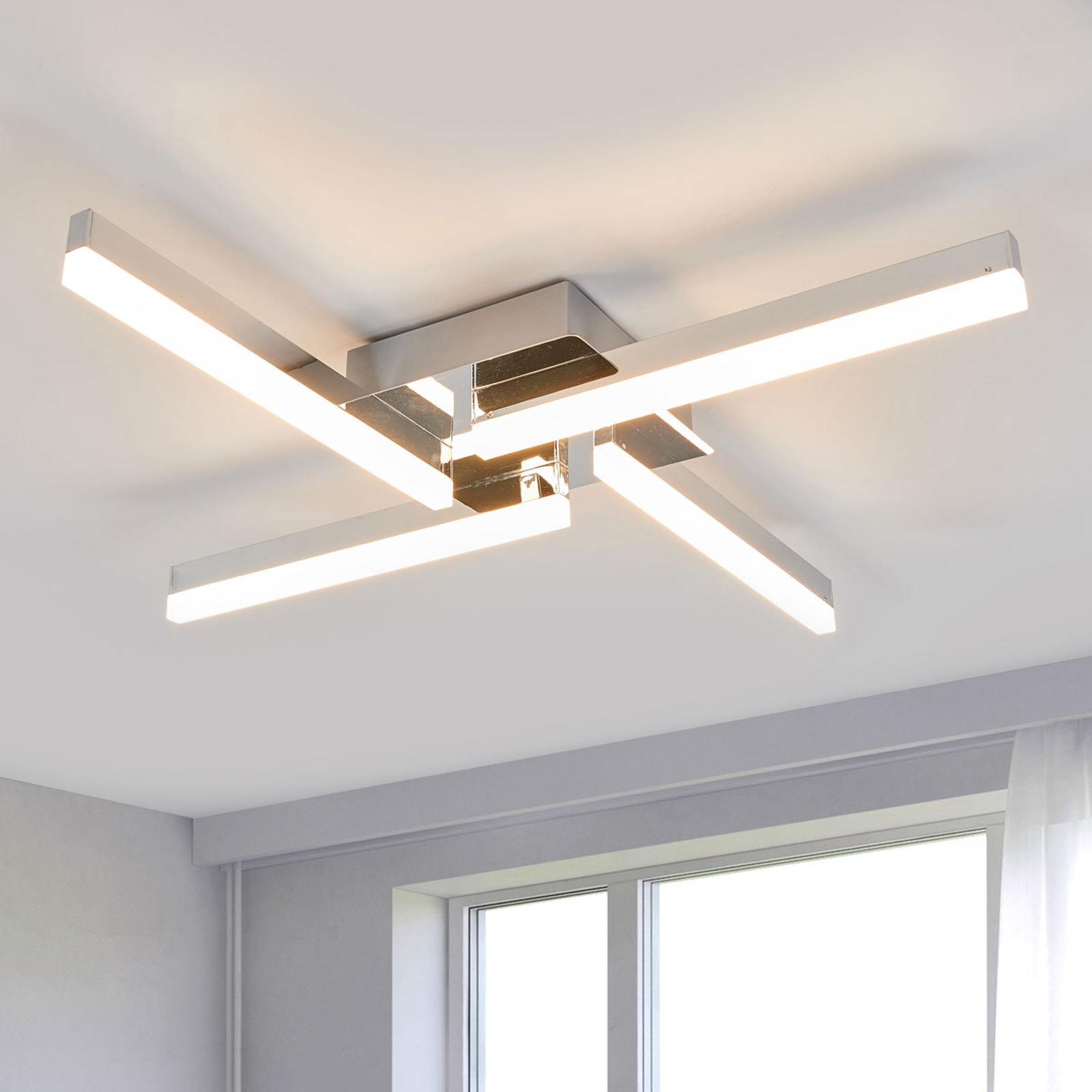 Nelilamppuinen LED-kattovalaisin Patrik, IP44