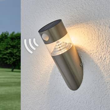 Solar-LED-vägglampa Kalypso, sned design, sensor