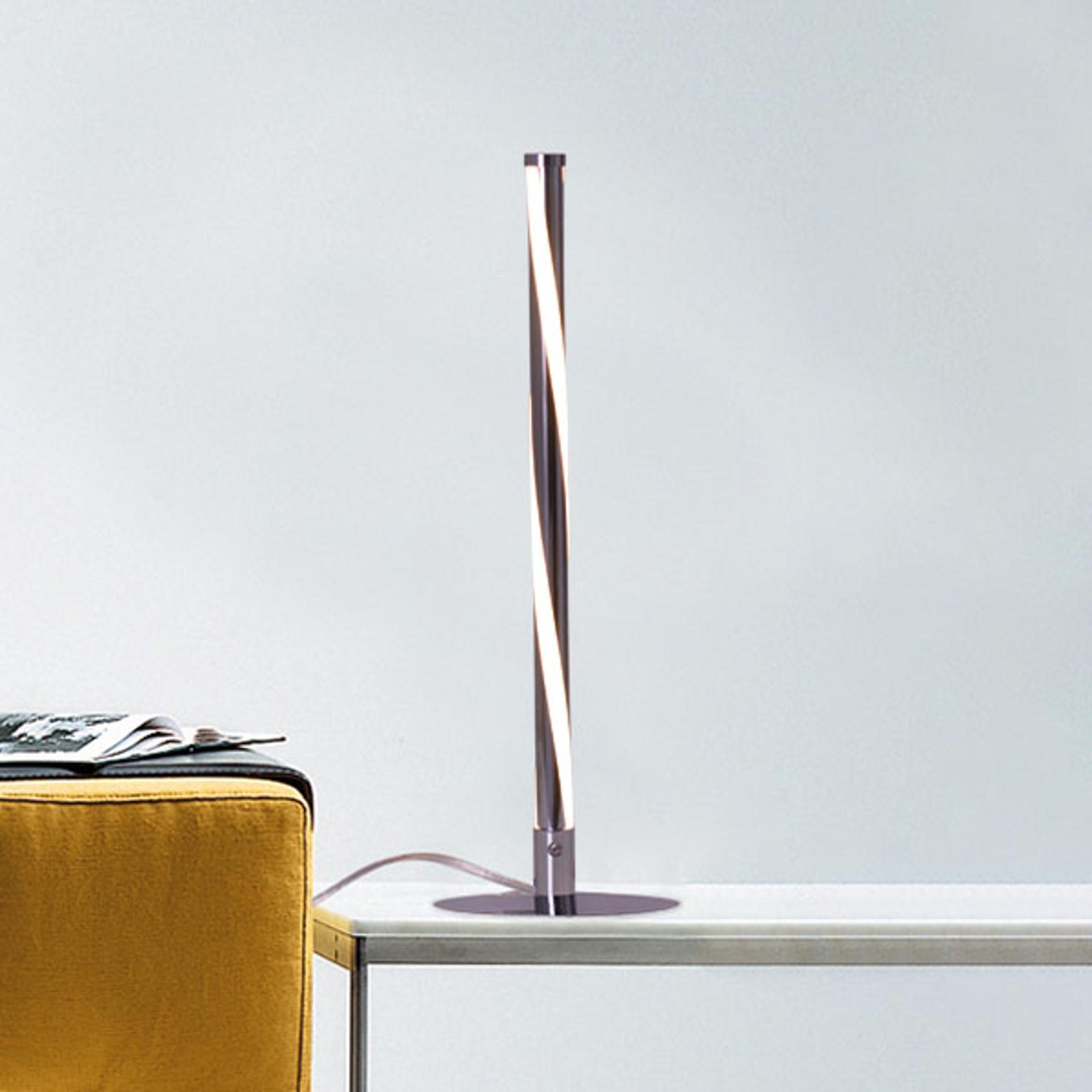 Geschwungene LED-Tischlampe Swirl in Chrom