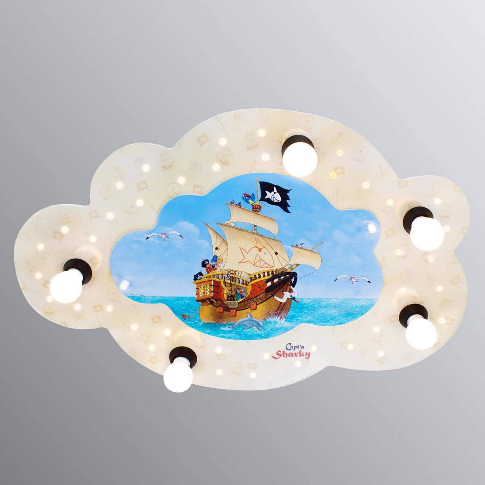 Wolkvormige plafondlamp Capt'n Sharky met LEDs