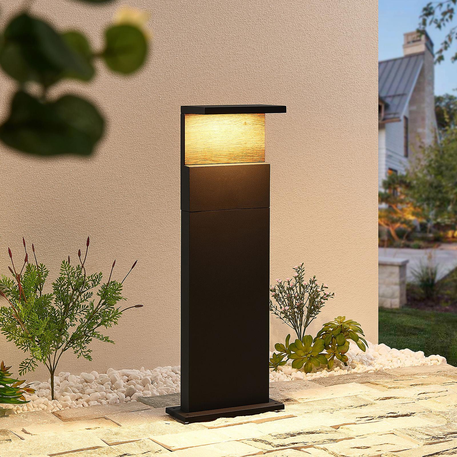Lucande Lignus LED-Sockelleuchte